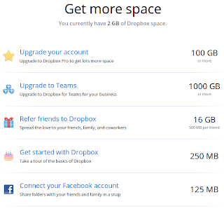 space gratis dropbox