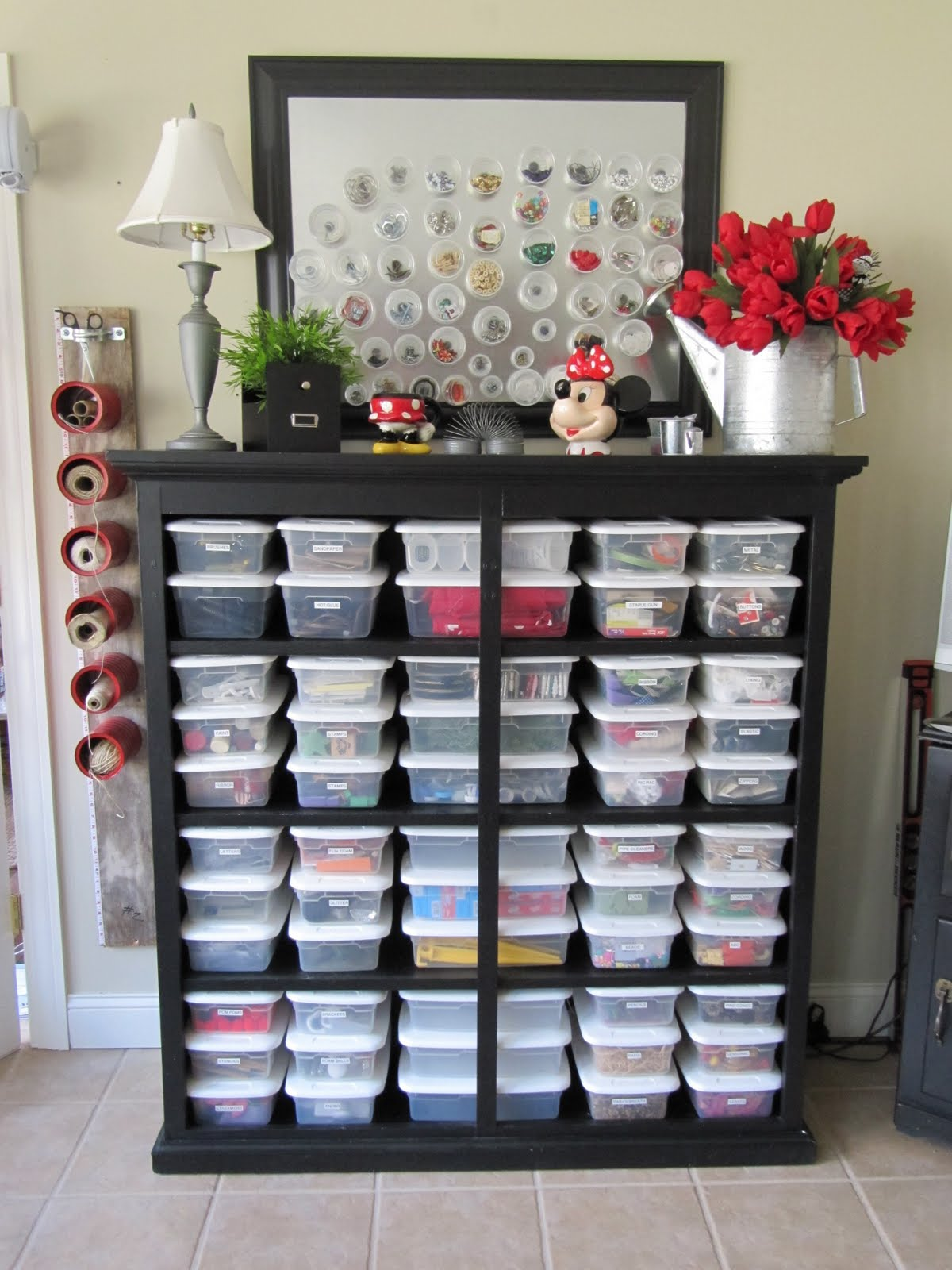 All the joy tuesday ten craft organization ideas Homemade craft storage ideas