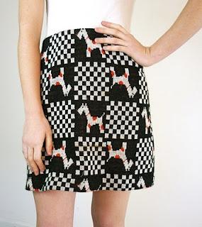 Sustainable Fashion Dog Print Skirt