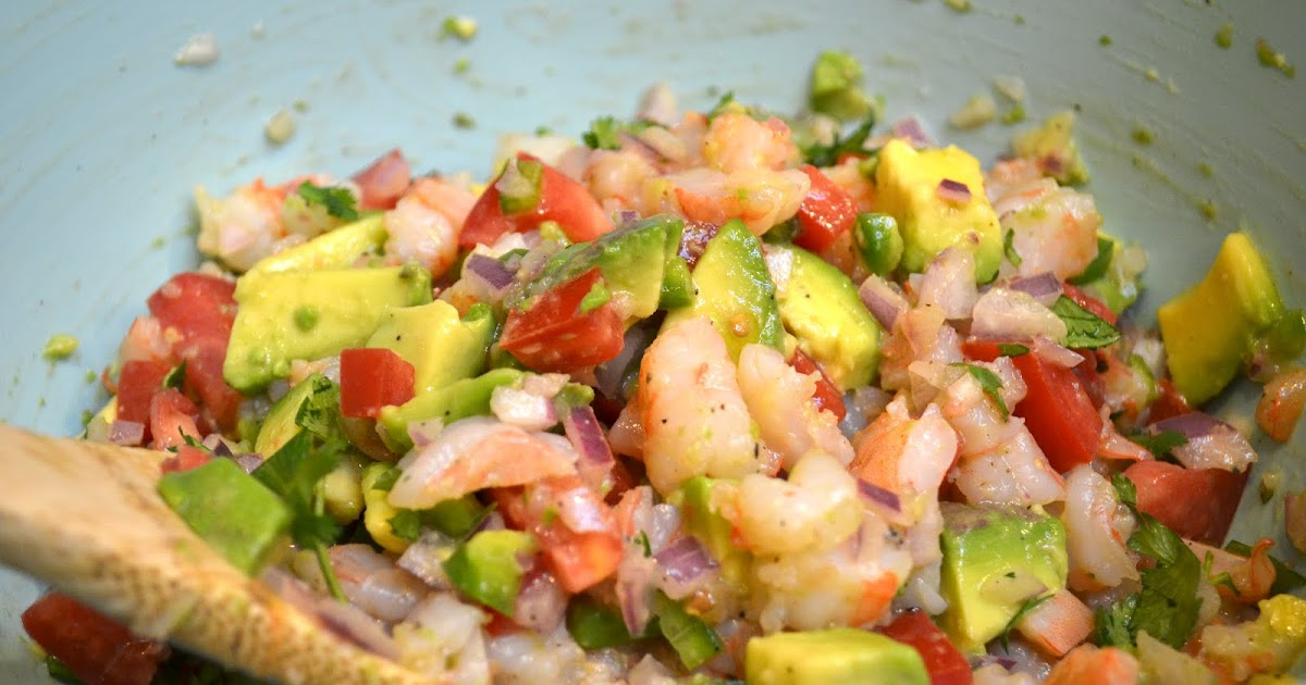 Real Life, One Day at a Time: zesty lime shrimp and avocado salad