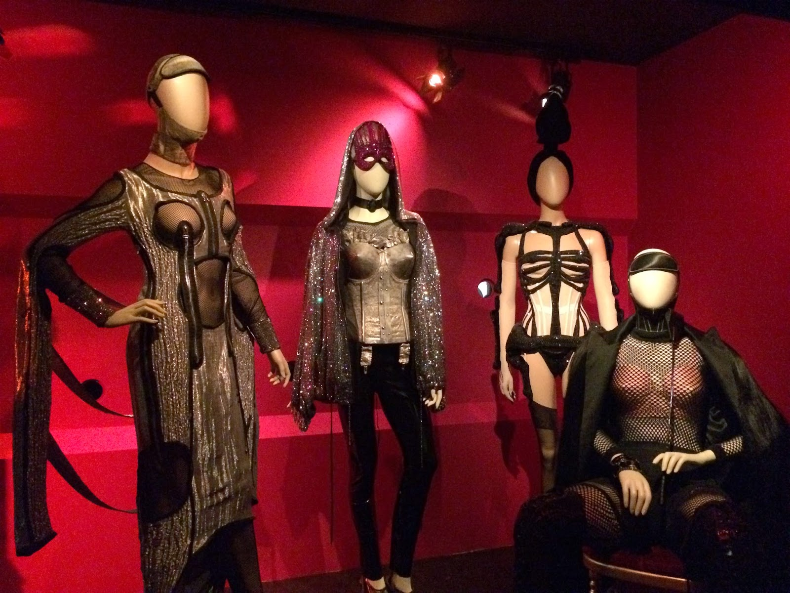Bondage inspired clothing by Jean Paul Gaultier, Le Grand Palais, Paris