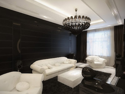 sala paredes negras