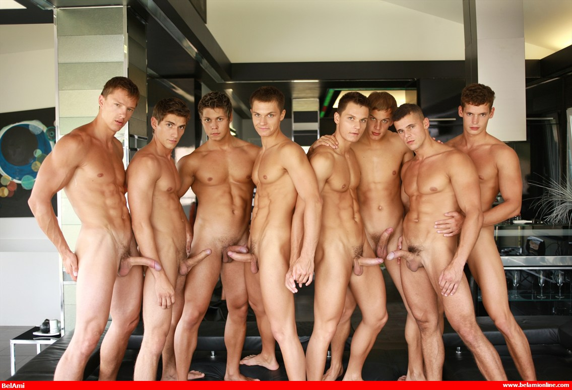 Gay group nudist