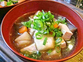 Recipes for Tom: Kenchinjiru / root vegetable and tofu soup