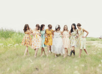Western Style Wedding Dresses on Events By Heather Ham  Trend  Mismatched Bridesmaid Dresses