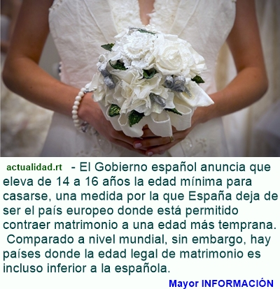 MUNDO: ¿Cuáles son los países de Latinoamérica dónde más temprano es legal casarse?