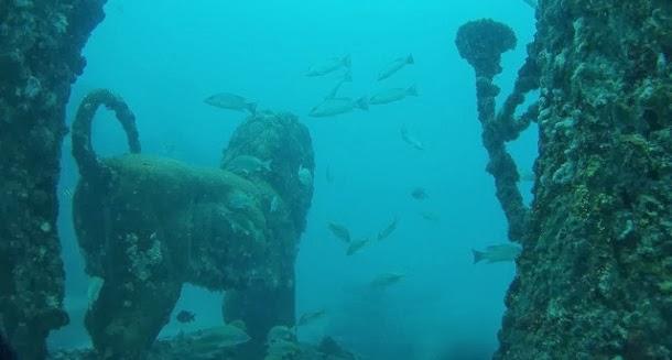 Cemitério subaquático faz lembrar as ruínas da Atlântida (fotos e video)