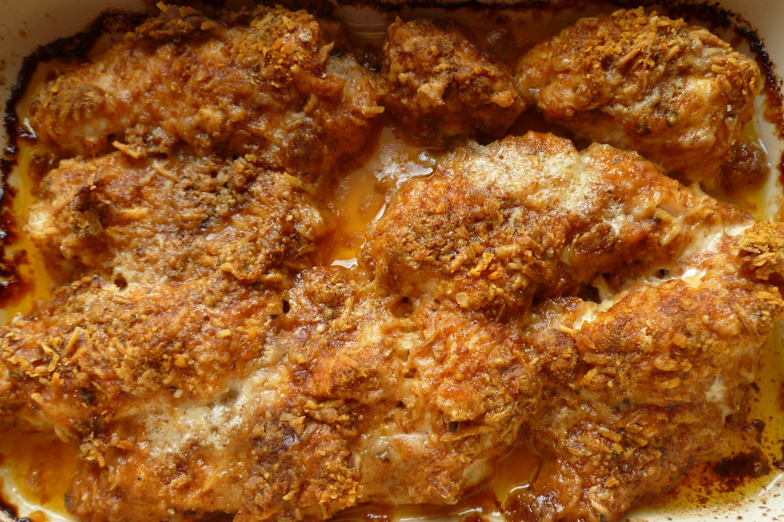 Baked Parmesan Paprika Chicken - made September 2, 2013 from Pia ...