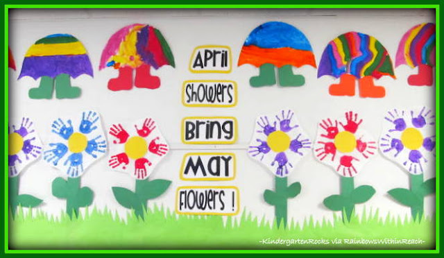 photo of: Month of May Bulletin Board (from Kindergarten Rocks at PreK+K Sharing)