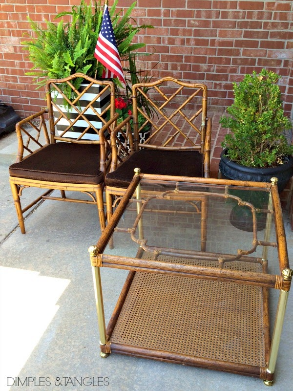 CHINESE CHIPPENDALE CHAIRS WITH PAINTED SEAT CUSHIONS