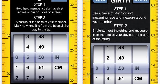 Mesurer son p nis il y a une application pour a - Application pour mesurer une piece ...