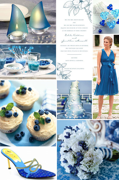 blue centerpieces for wedding