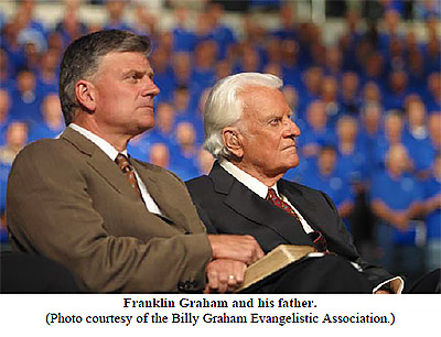 Franklin Graham and his father
