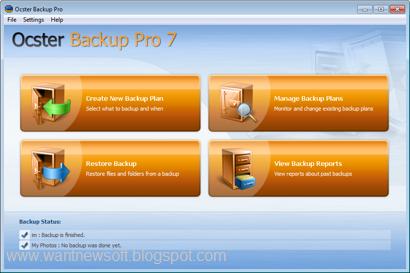 Ocster Backup Pro 7 www.wantnewsoft.blogspot.com image