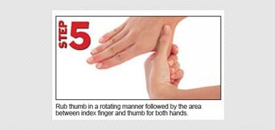 langkah kelima gosok ibu jari