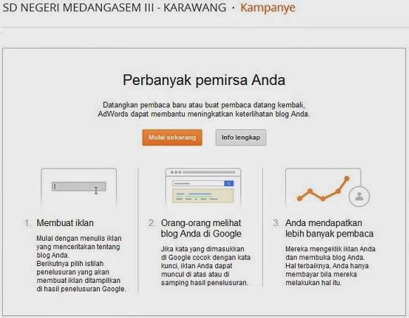GOOGLE ADWORDS DI DASBORD BLOGGER