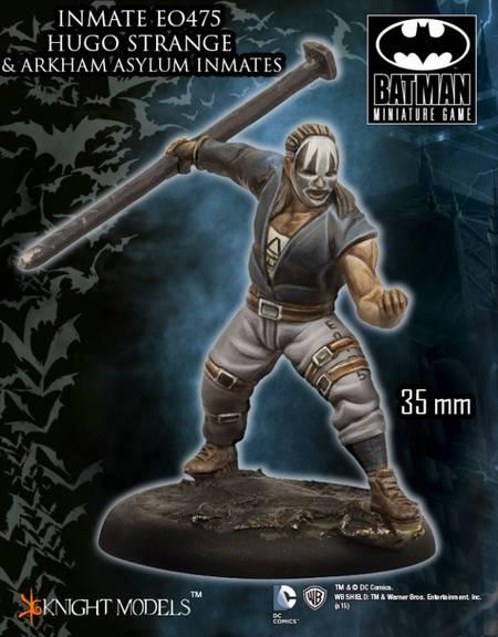 Novedades BMG Batman Miniature Game Agosto: Arkham Asylum Inmates (Hugo Strange)