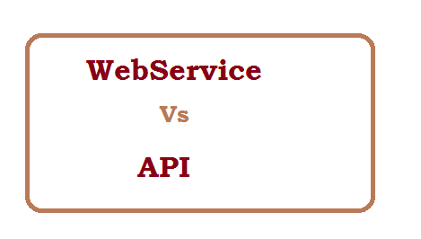 Difference between WebService and API
