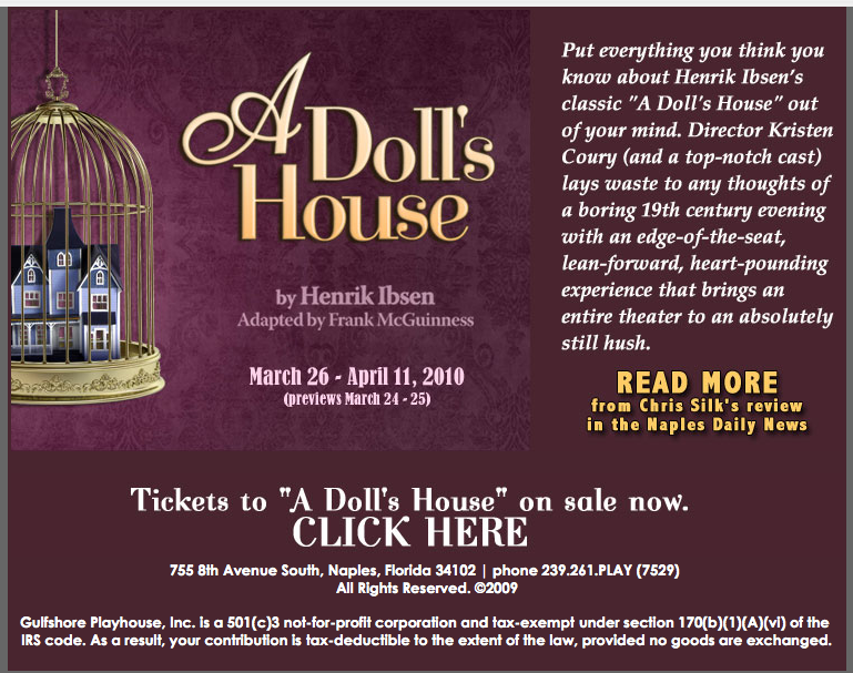 essays on a doll house by ibsen In the play a doll's house, we are presented with a very idealistic version of life in the late 1800's, and along with that, the very confined roles both men and women were placed into.