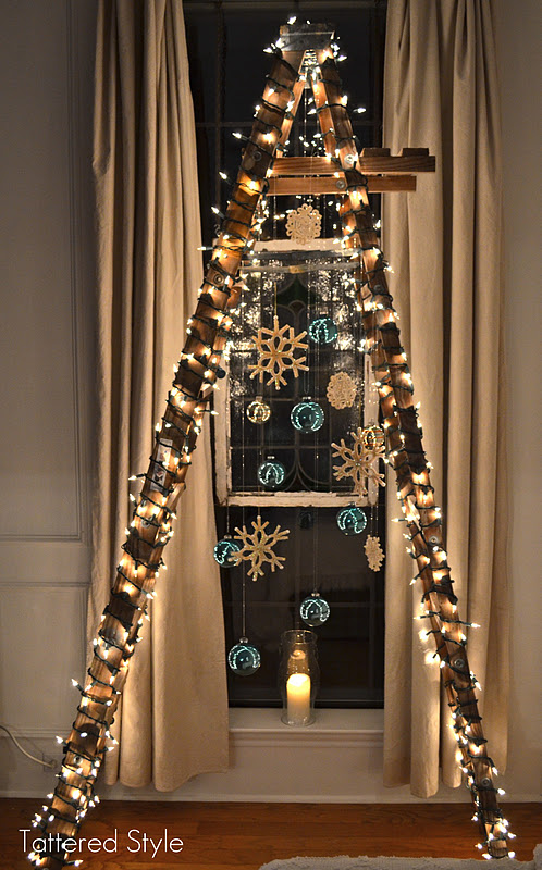 ladder christmas tree - Christmas Ladder Decor