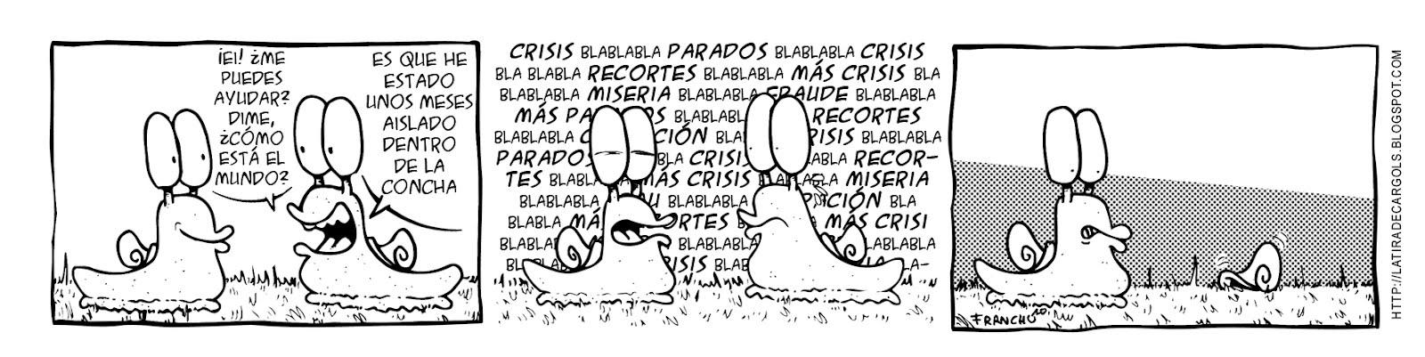 Tira comica 138 del webcomic Cargols del dibujante Franchu de Barcelona