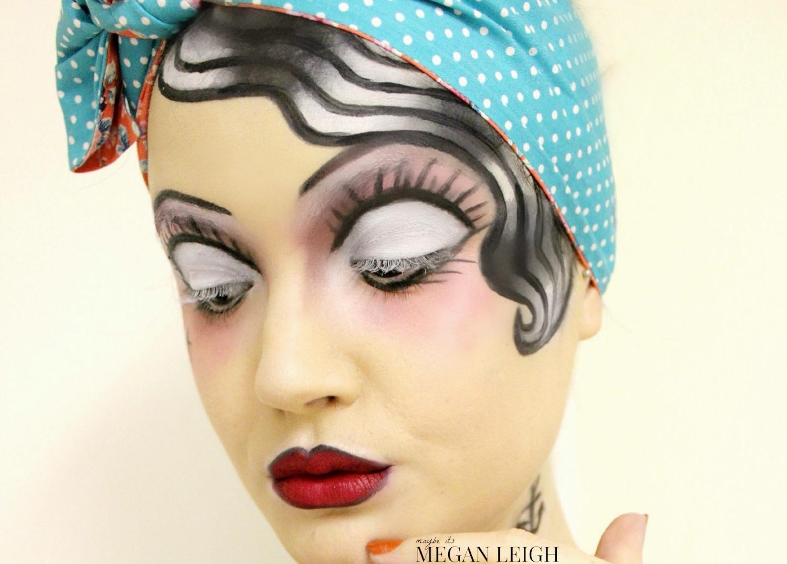 Classic Tattoo Pin Up Girl  Halloween Makeup  Maybe Its - Classic Halloween Makeup