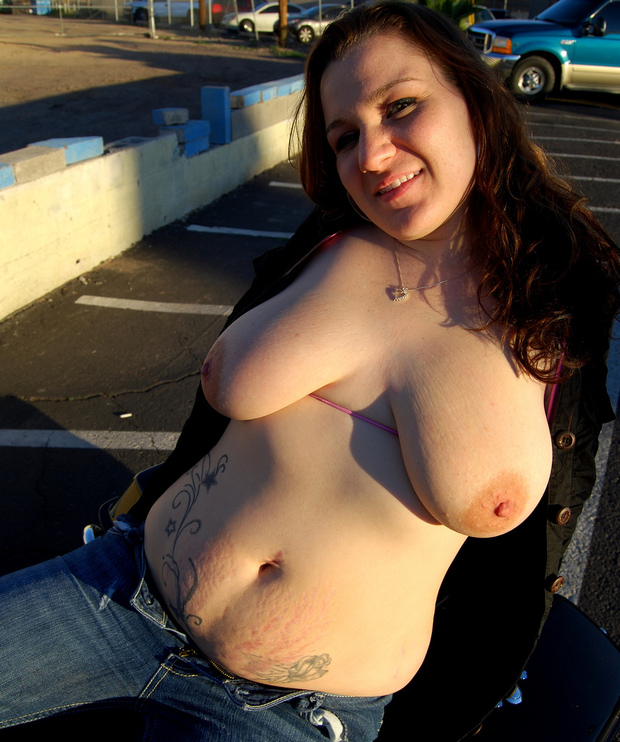 Fat old tits nudist