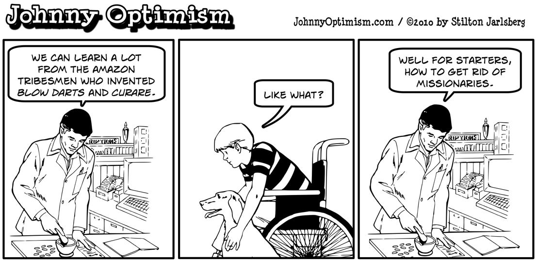 Johnny Optimism, johnnyoptimism, medical humor, pharmacist