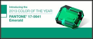 couleur de l'année 2013 vert emeraude, Pantone 17 5641