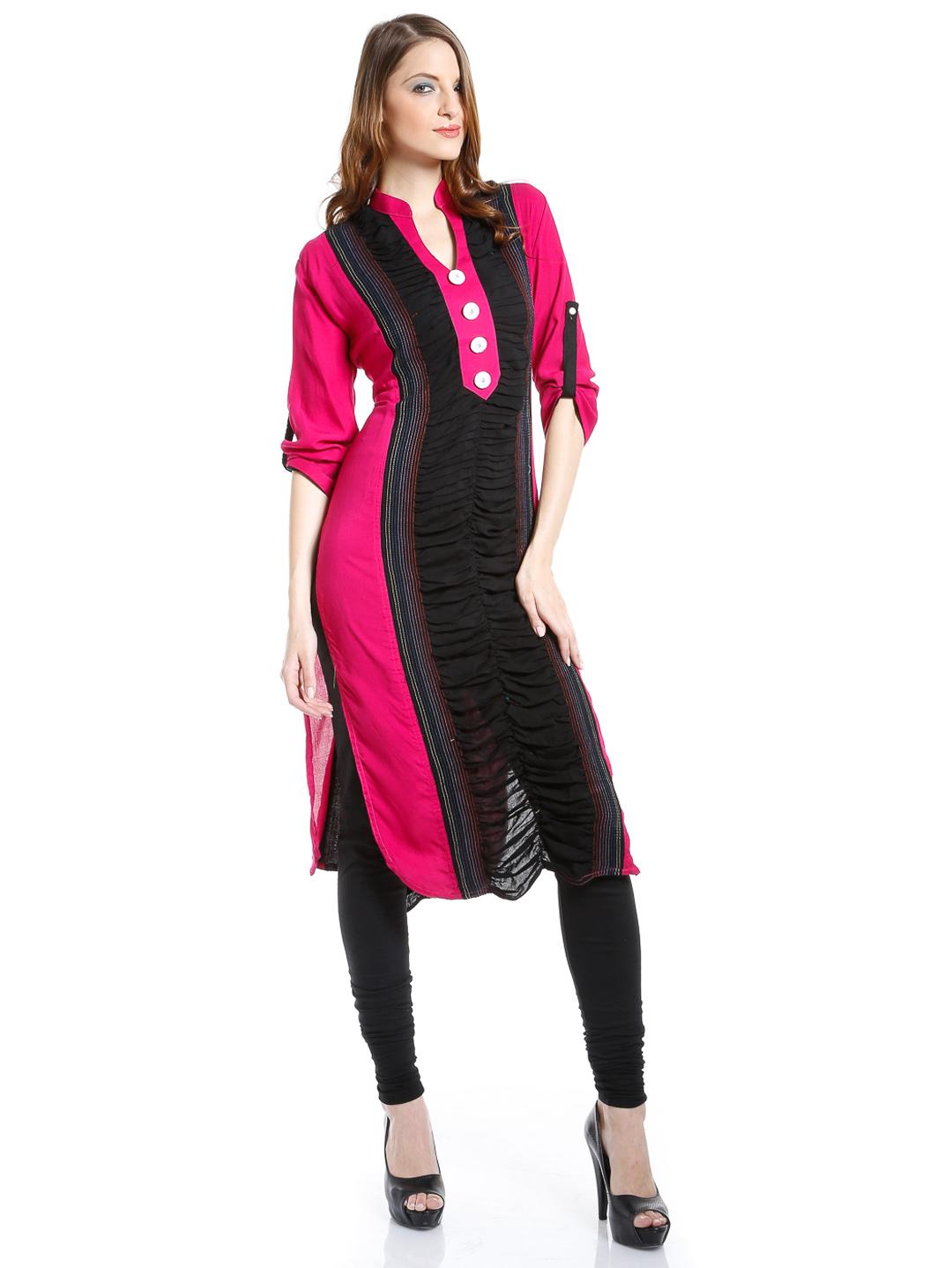 Shirt design ladies 2015 - Pocket Style Long Shirts Folding Long Kameez With Churidaar Trouser