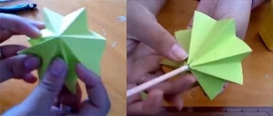 como hacer arbolito de papel