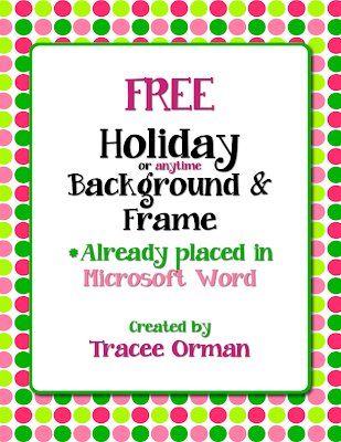 Free Holiday Clip Art in Word http://www.teacherspayteachers.com/Product/Free-Holiday-Color-Polka-Dots-Clip-Art-Frame-in-Word