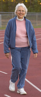 Woman taking walk