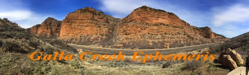 Galla Creek Ephemeris