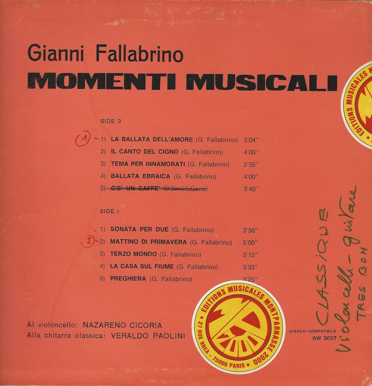 Gianni Fallabrino - Musica Da Vedere (Musiche Per Sottofondi Musicali)