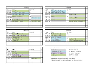 Gilbert Studio of Dance Arts: 2013 - 2014 Dance Season Schedule