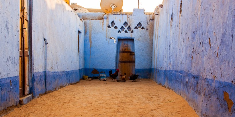 Núbiai falu. Asszuán, Egyiptom.