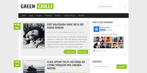 Download Gratis Green Chili Wordpress theme , SEO Friendly , News