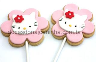 Biscoito no palito Hello Kitty