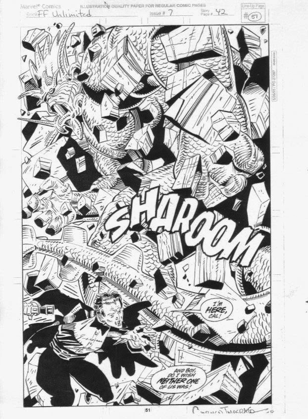 Fantastic Four Unlimited original art by Herb Trimpe