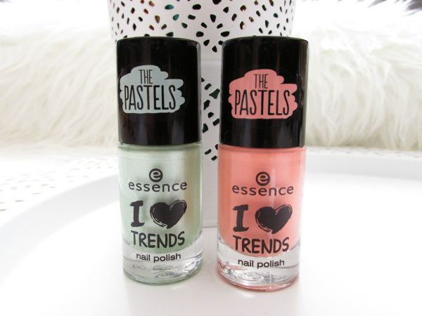 essence The Pastels nail polishes - so lucky & I am so fluffy