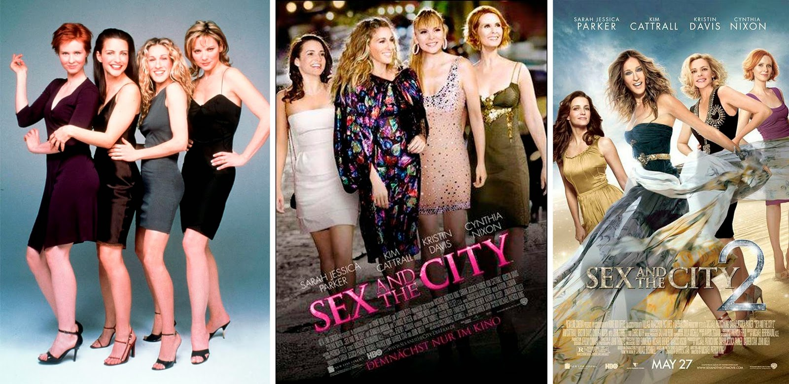 Sarah Jessica Parker (Carrie Bradshaw), Kristin Davis (Charlotte York), Cynthia Nixon (Miranda Hobbes) y Kim Cattrall (Samantha Jones)