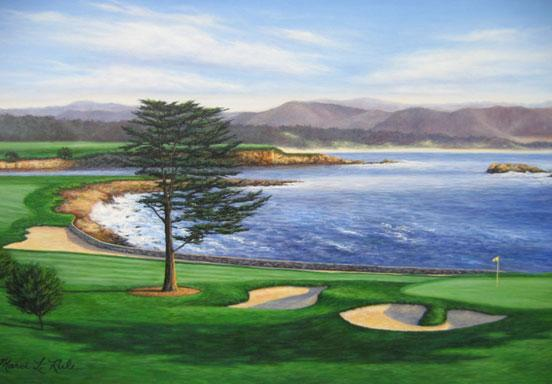 Pebble beach is a small coastal resort destination for Pebble beach collection