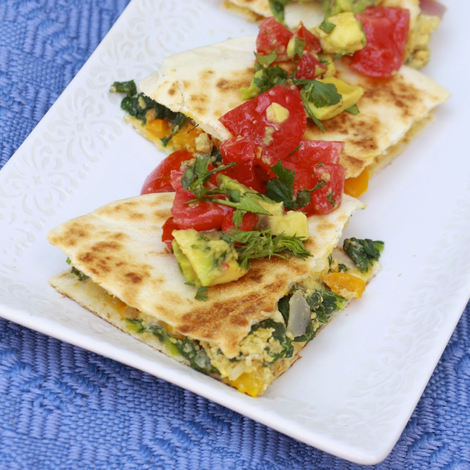 Breakfast Quesadillas | The Sweets Life