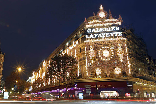 Establecimientos con luces de navidad en Paris