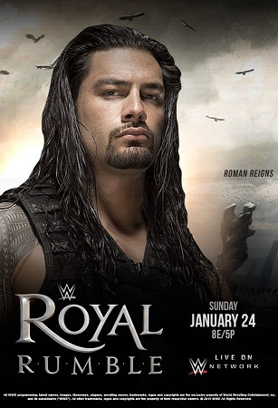 Poster Of WWE Royal Rumble 24th January 2016 700MB PPV WEB-DL Free Download Watch Online