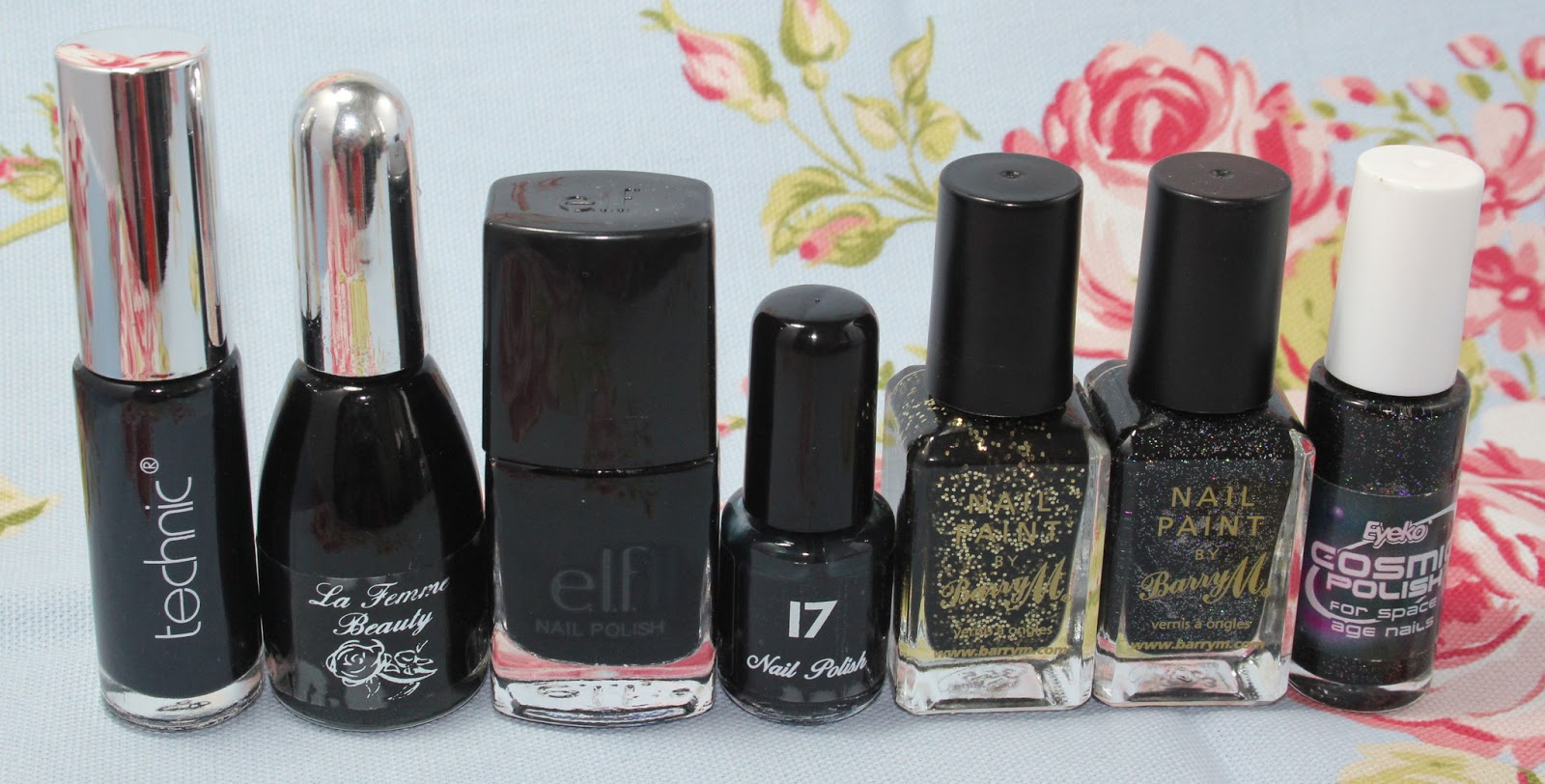 My nail polish collection - blacks, browns and golds - Love Leah