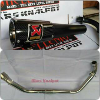 Knalpot Racing  akrapovic gp carbon black