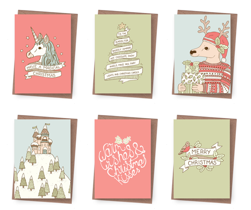 Emma Margaret Illustration Christmas Cards 2015