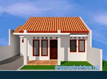 Gambar Desain Rumah Minimalis Type 45 - Depan